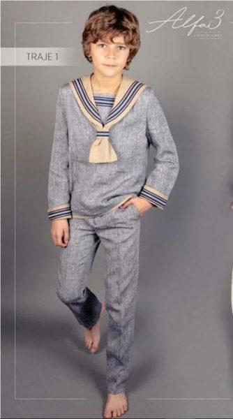 traje de comunion moderno nino